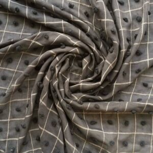 Lawn Hijab with Puffy Dots Grey