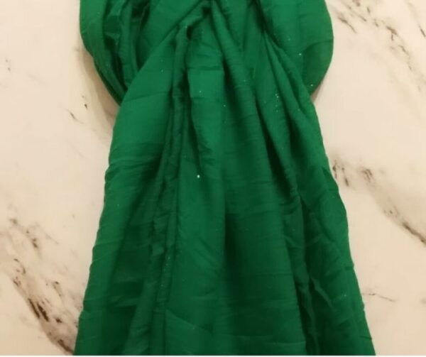 Lawn Hijab with Sparkles Green