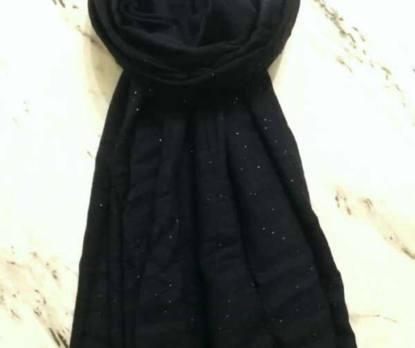 Lawn Hijab with Sparkles Navy