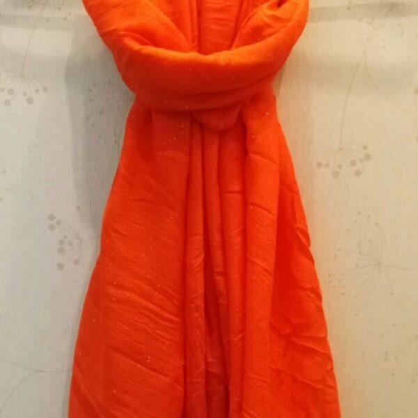 Lawn Hijab with Sparkles Orange