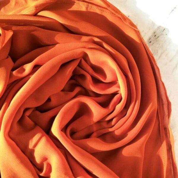 Chiffon hijab Rust