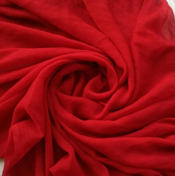 Crinkle Chiffon Maxi Hijab Scarlet