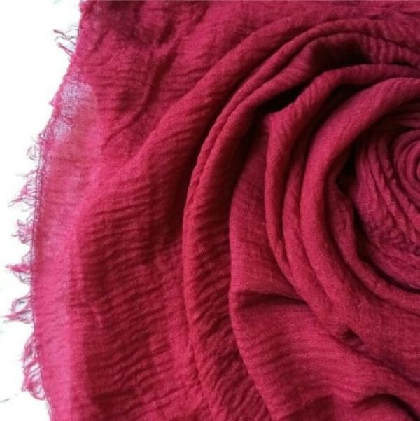 Ripple Cotton Hijab Cerise