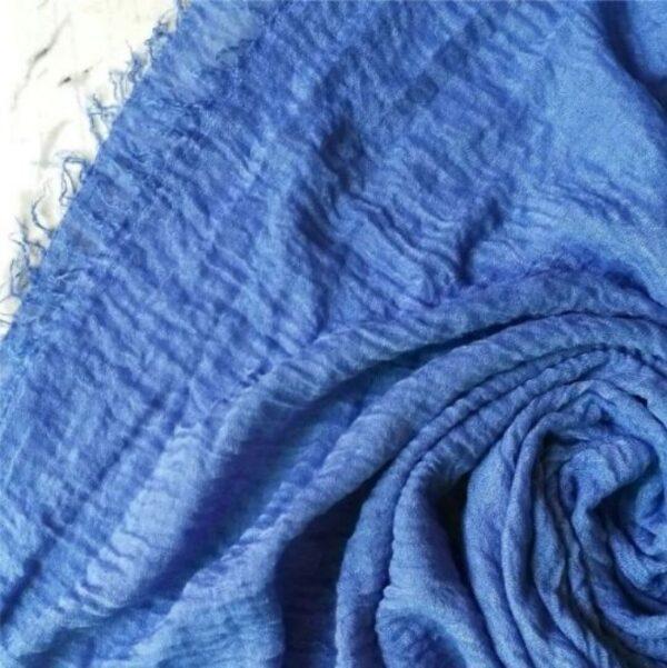 Ripple Cotton Hijab Cerulean