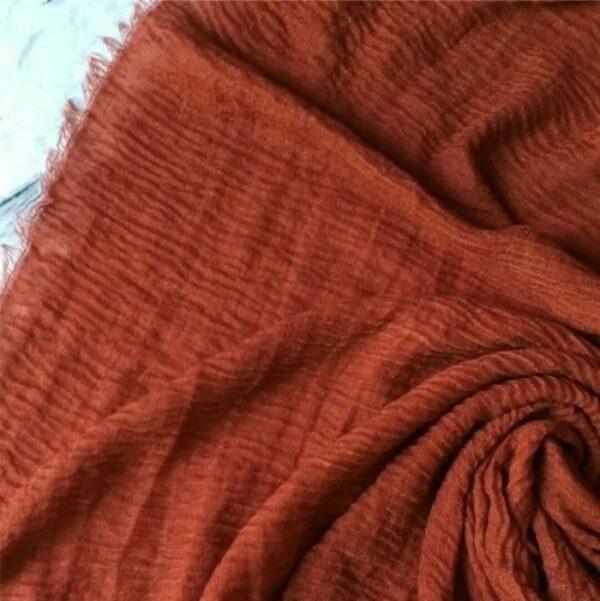 Ripple Cotton Hijab Cinnamon