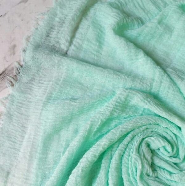 Ripple Cotton Hijab Cyan