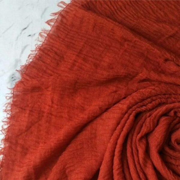 Ripple Cotton Hijab Mahogany