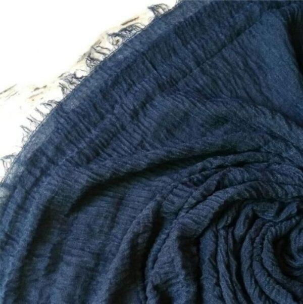 Ripple Cotton Hijab Midnight