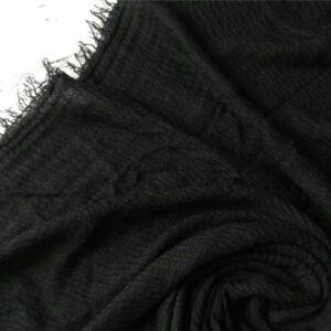 Ripple Cotton Hijab Onyx