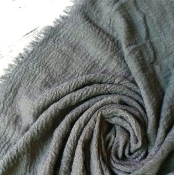Ripple Cotton Hijab Steel