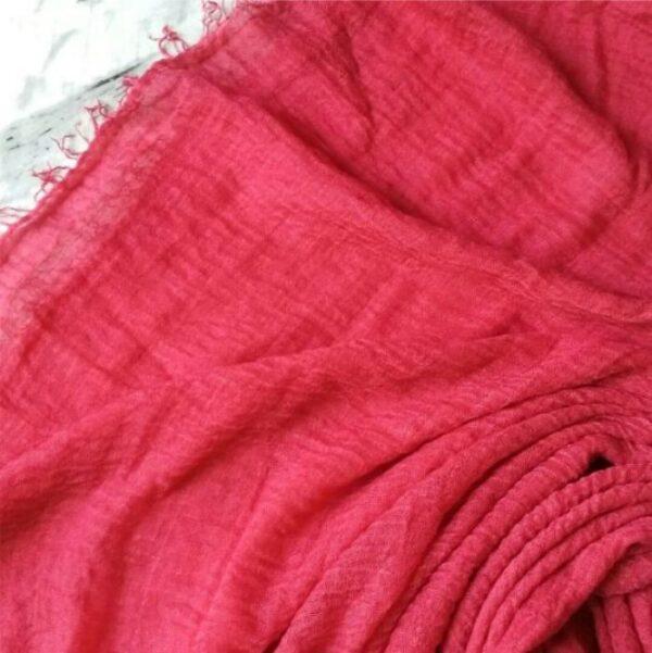 Ripple Cotton Hijab Strawberry