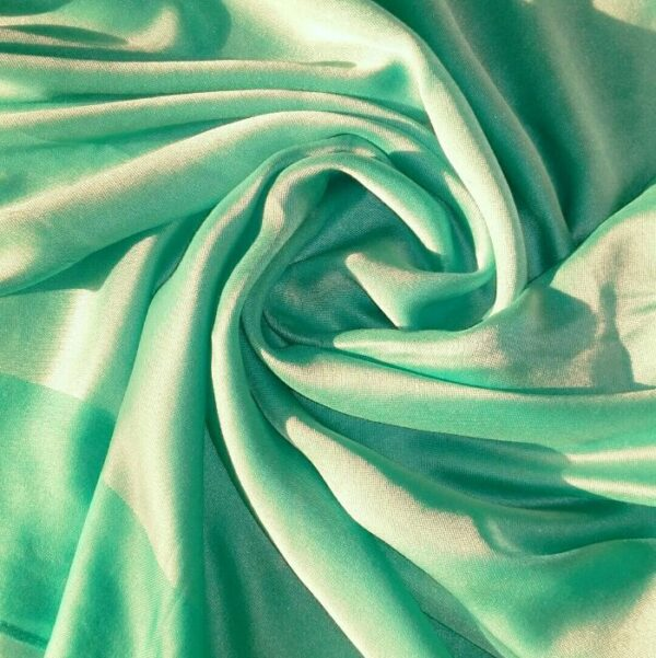 Silken Viscose Hijab Dual Shade Turquoise