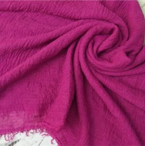 Ripple Cotton Hijab Magenta1