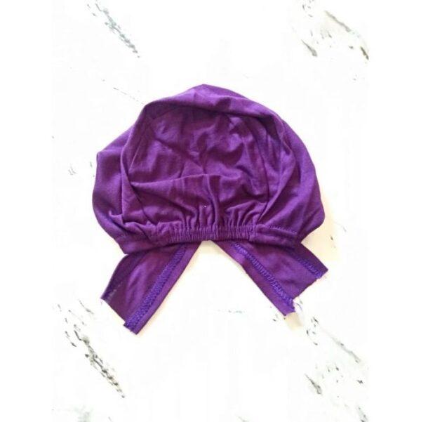 Under Scarf Cap Purple