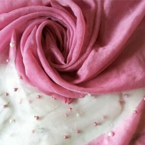 Pearl Organza French Rose