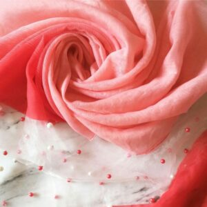 Pearl Organza Summer Rose
