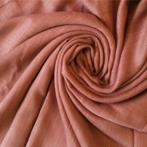 Premium Cotton Hijab Peach caramel