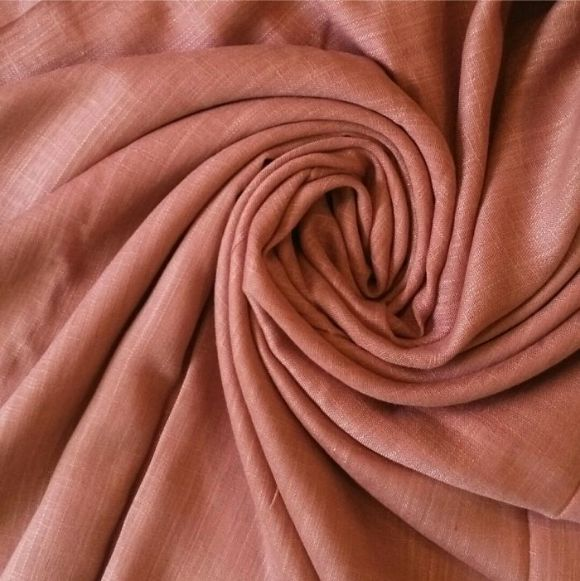 Premium Cotton Hijab Peach caramel