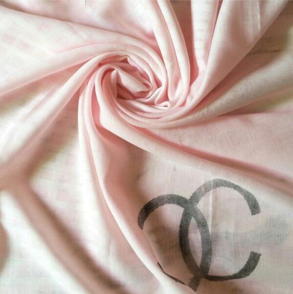 Premium Tissue Fabric Hijab Baby Pink