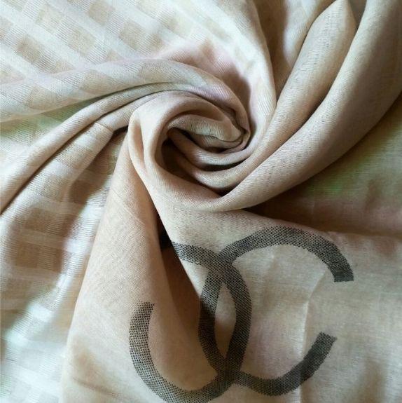 Premium Tissue Fabric Hijab Light Brown