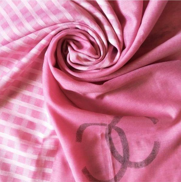 Premium Tissue Fabric Hijab Rose