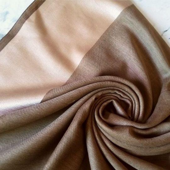 Silken Viscose Hijab Brown