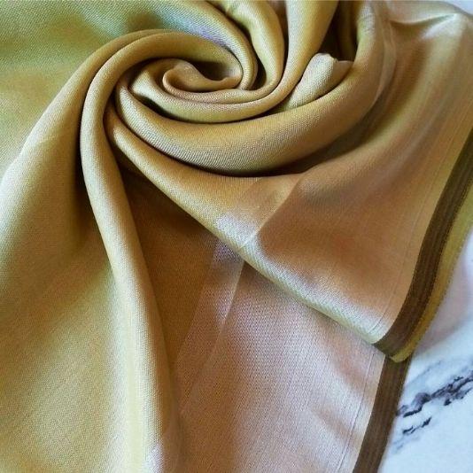 Silken Viscose Hijab Golden Apple