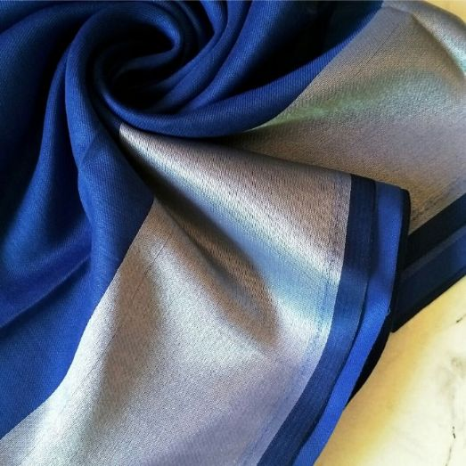 Silken Viscose Hijab Royal Blue