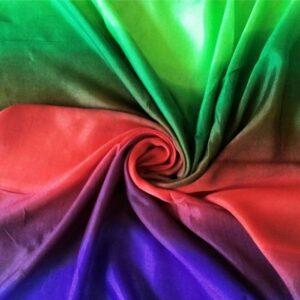 Tie & Dye silken Viscose Hijab Amazon Parrot
