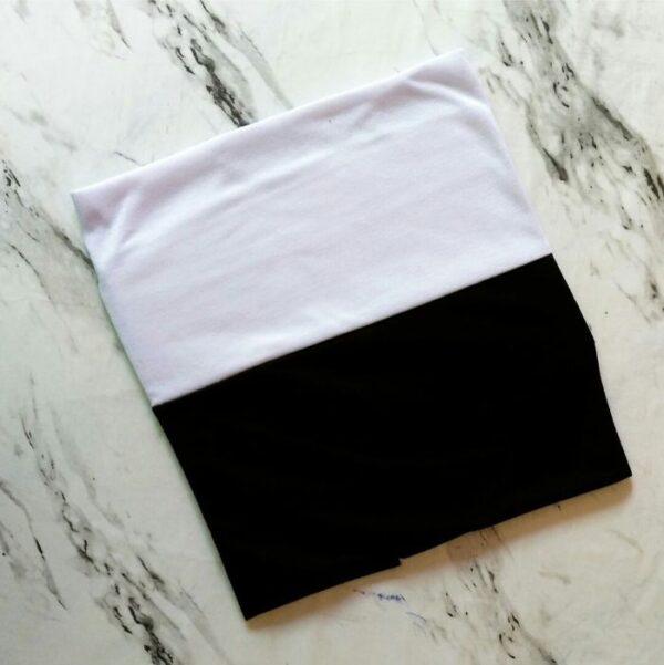 Tube Underscarf Dual Tone Black White