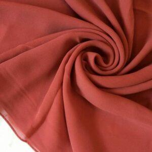 Premium Chiffon Scarf Dark Rouge