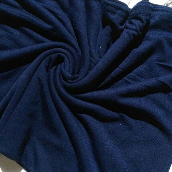Premium Cotton Jersey Hijab Navy