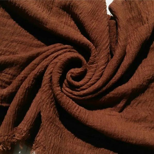 Ripple Cotton Hijab Brown