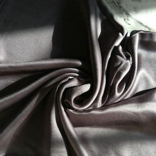 Satin Hijab Steel Grey