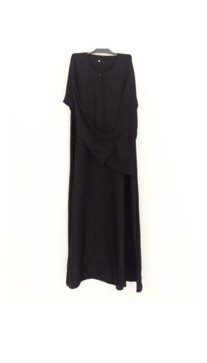 Plain Black Closed Abaya