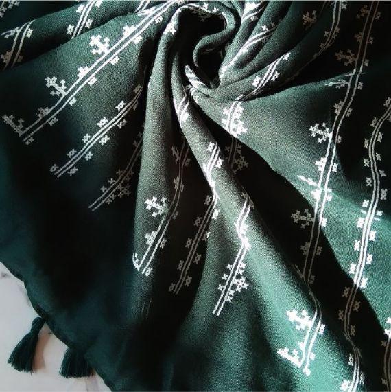 Embossed Lawn Hijab Green