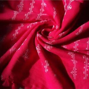 Embossed Lawn Hijab Pink