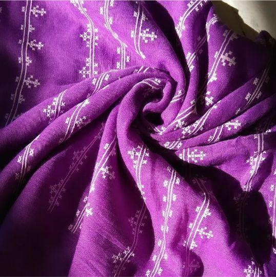 Embossed Lawn Hijab Purple