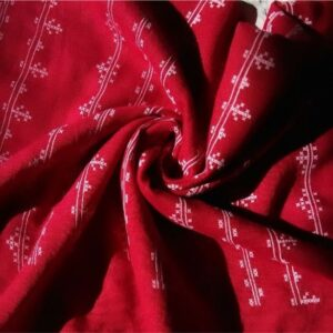 Embossed Lawn Hijab Red