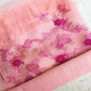Floral Embroidery Organza Blossom