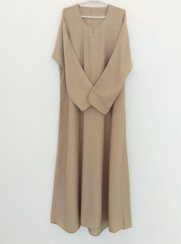 Plain Fawn Closed Abaya