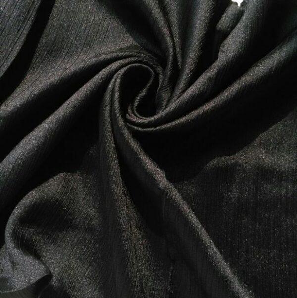 Shimmer Silk Hijab Black