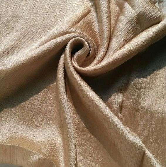 Shimmer Silk Hijab Light Gold