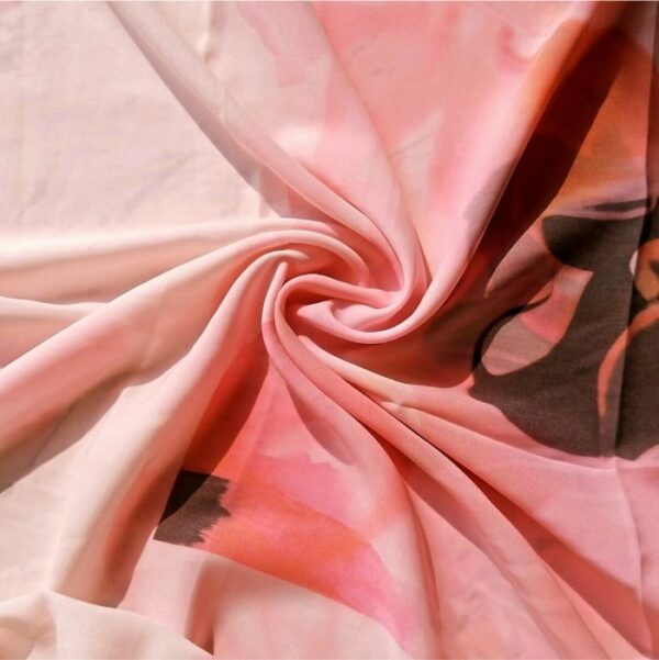Square Hijab Pink Floral Print