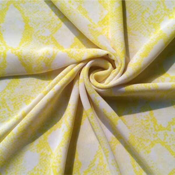 Square Hijab Printed Lemon