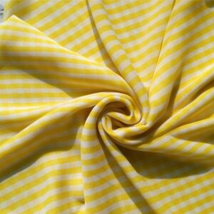Square Hijab with Yellow Stripes