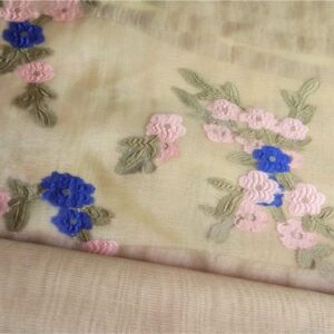 Floral Embroidery Organza  Skin