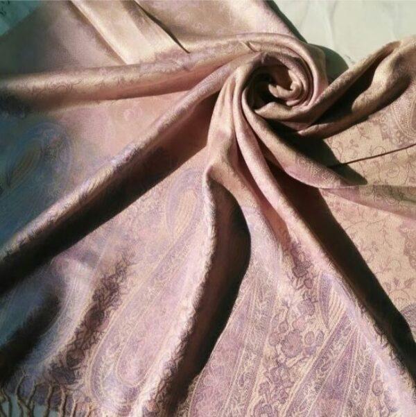 Printed Pashmina Hijab Baby Pink