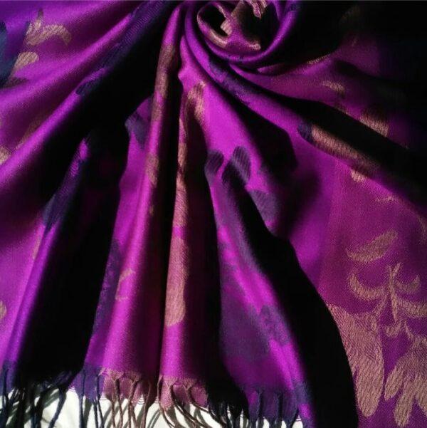 Printed Pashmina Hijab Purple