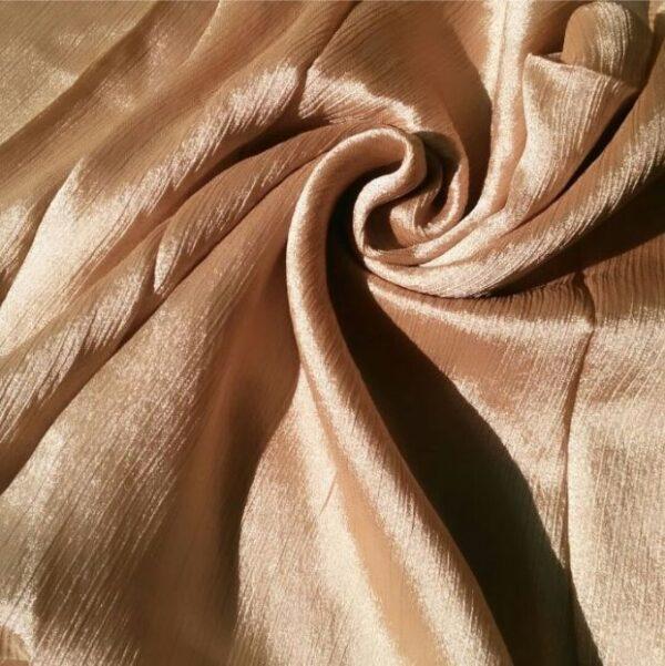 Shimmer Silk Hijab Dull Gold